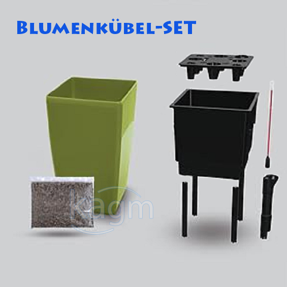 neu set blumenkasten bertopf blumenk bel bew sserung ebay. Black Bedroom Furniture Sets. Home Design Ideas