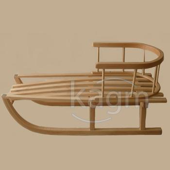 holzschlitten schlitten kinderschlitten mit r ckenlehne incl ziehleine neu ebay. Black Bedroom Furniture Sets. Home Design Ideas